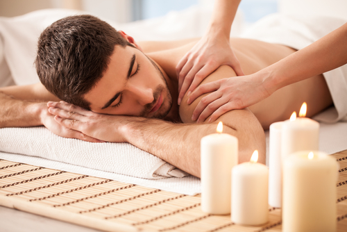 Anti-stress head, neck and shoulder massage